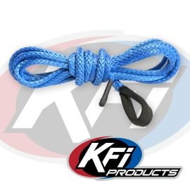Synthetic ATV Winch 12 Foot PLOW Cable (Blue)