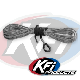 """3/16"""" Synthetic 50' ATV Winch Cable (Smoke)"""