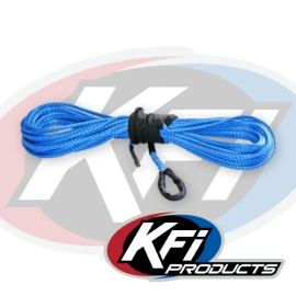 "1/4"" Synthetic 50' UTV Winch Cable (Blue)"