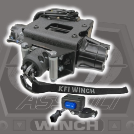 2500lb Steel Cable KFI Polaris ATV Plug-N-Play Winch Kit