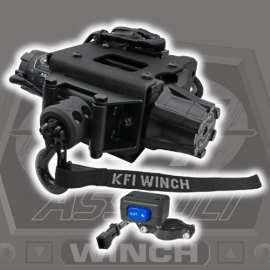 3500lb Synthetic KFI Polaris ATV Plug-N-Play Winch Kit
