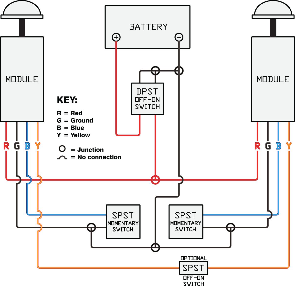Kfi Winch Wiring Diagram : Kfi red led strobe light atv winch mounts and