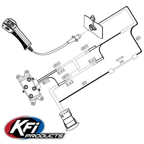 Kfi Utv Utv Dash Mounted Rocker Switch Kit